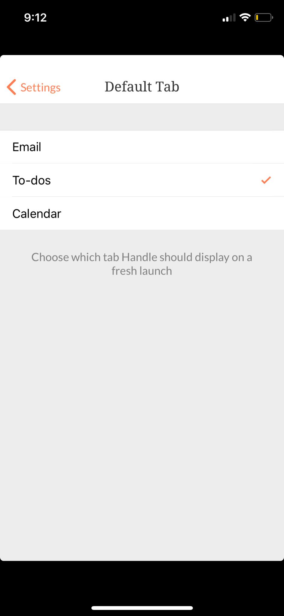 Default Tab on iOS by Handle