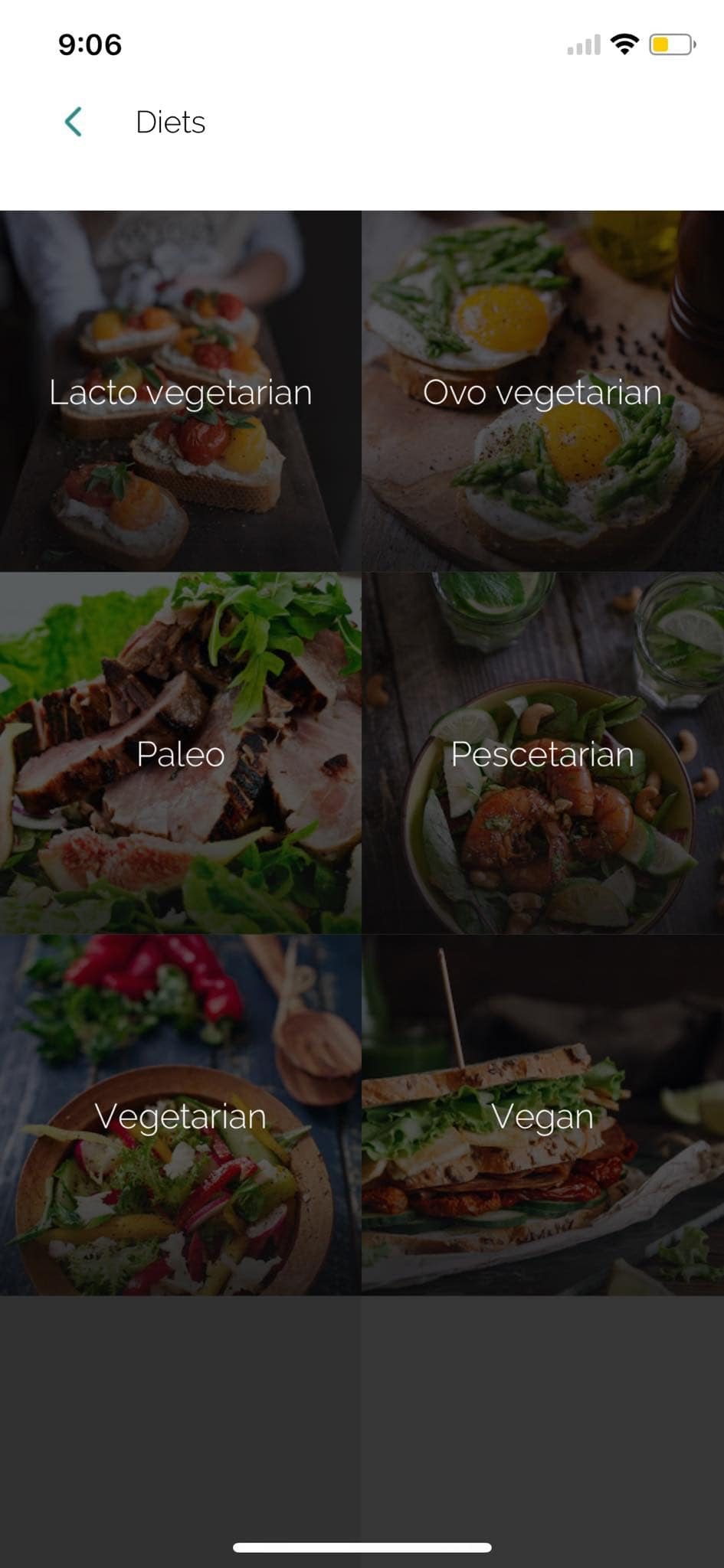 Diets on iOS by Yummly from UIGarage
