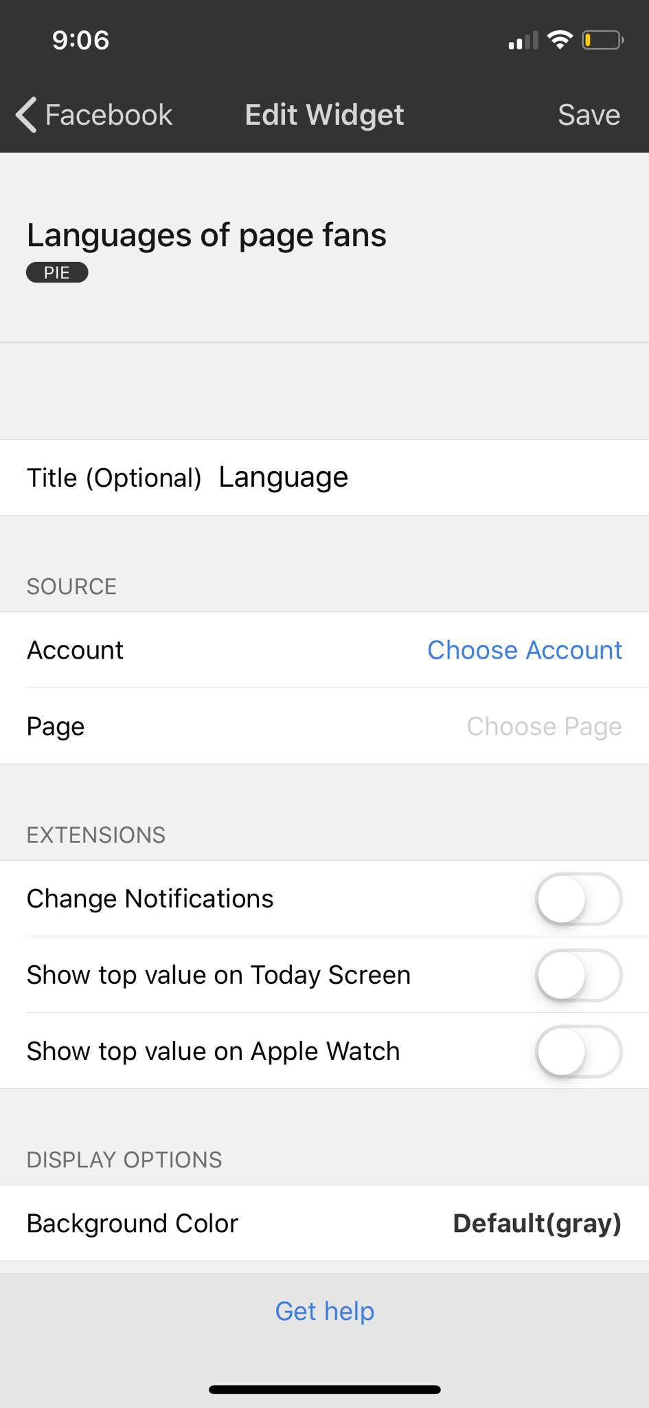 Edit Widget on iOS by Numerics from UIGarage