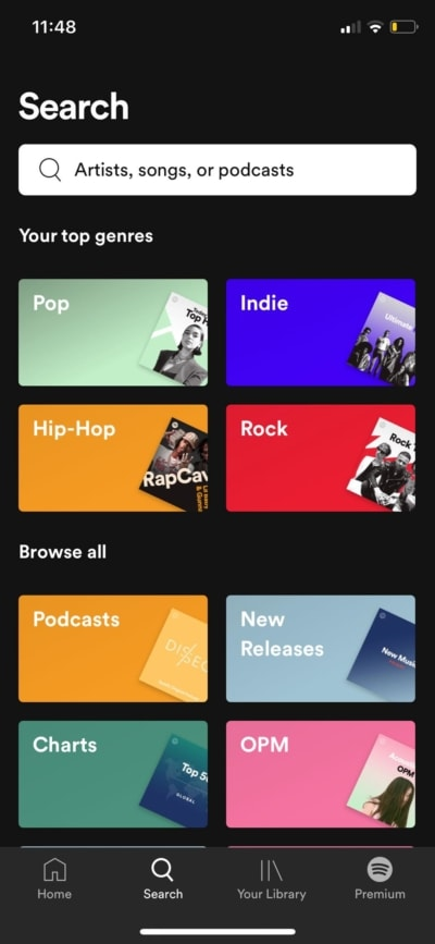 Top Genres on iOS by Spotify from UIGarage