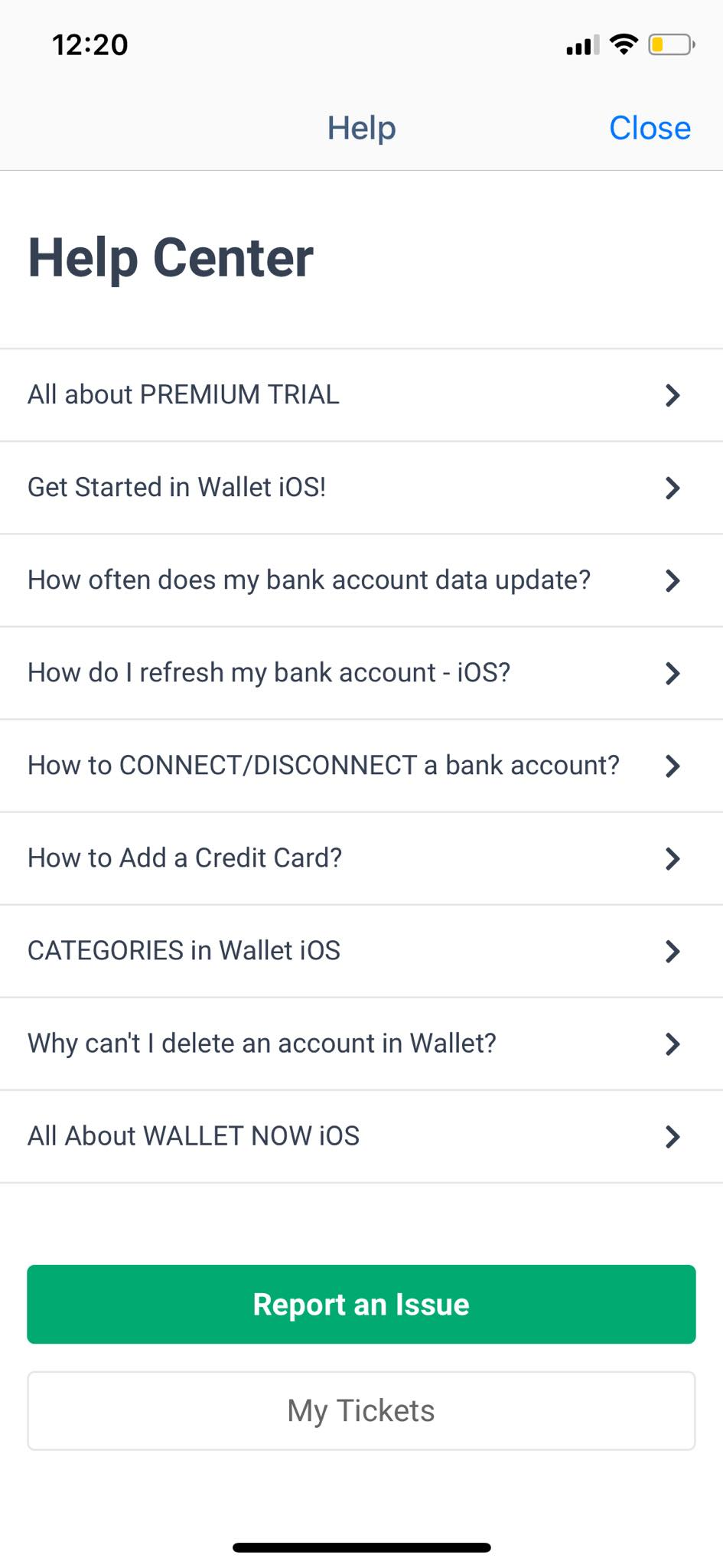 Help on iOS by Wallet from UIGarage