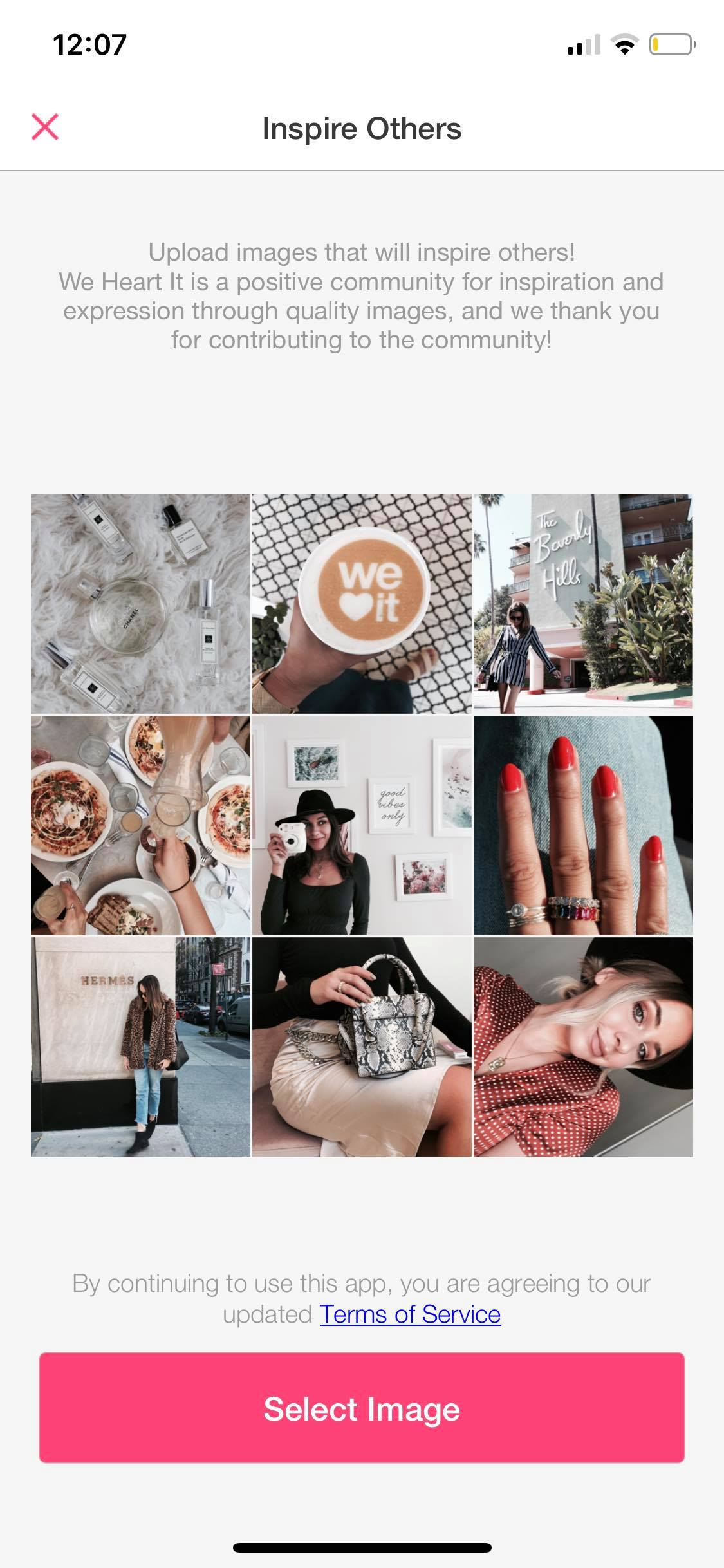 Inspire Others on iOS by We Heart It