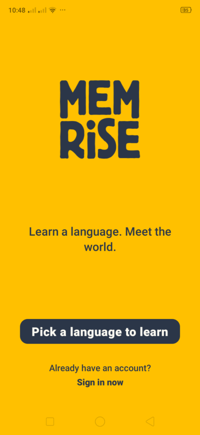 Landing on Android by Memrise from UIGarage