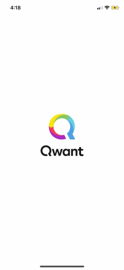 Launchscreen on iOS by Qwant from UIGarage