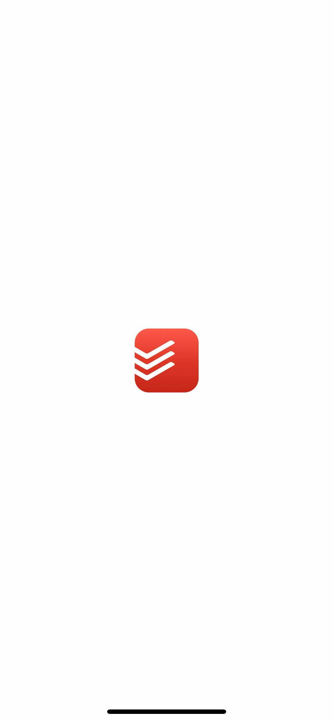Launch Screen on iOS by Todoist from UIGarage