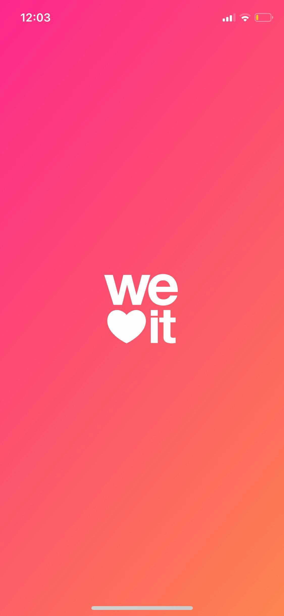 Launch Screen on iOS by We Heart It from UIGarage