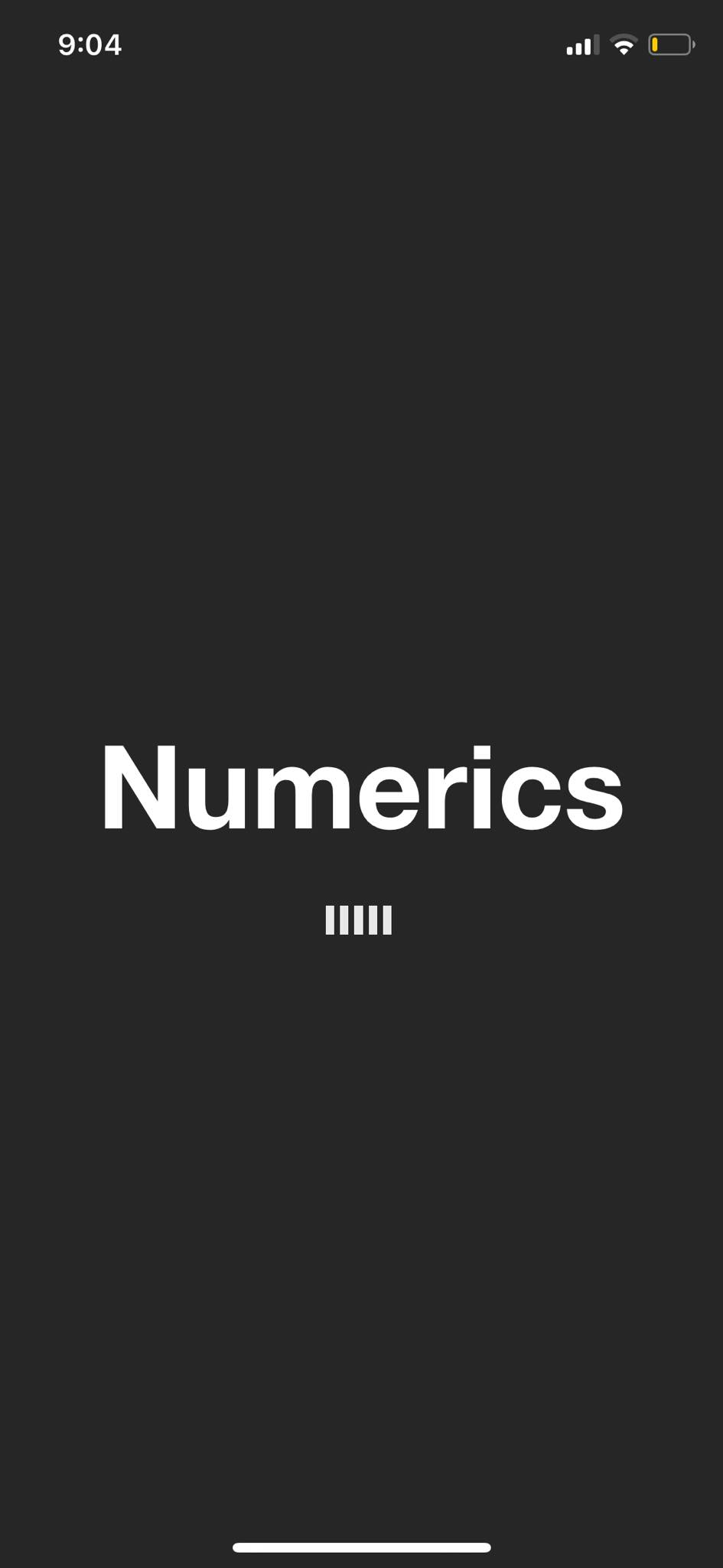 Launch Screen on iOS by Numerics