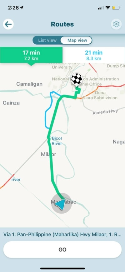 Routes on iOS by Waze from UIGarage