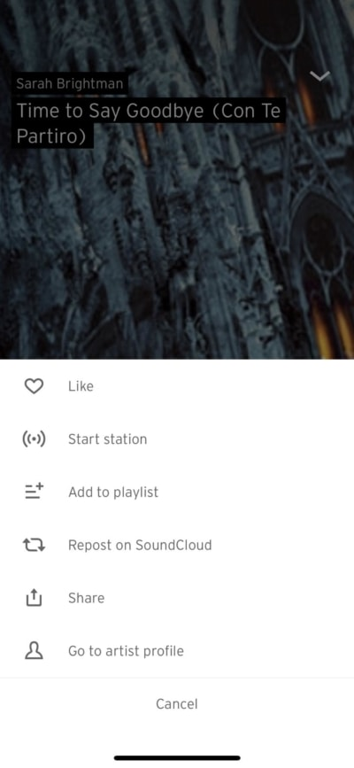 Menu on iOS by Soundcloud from UIGarage