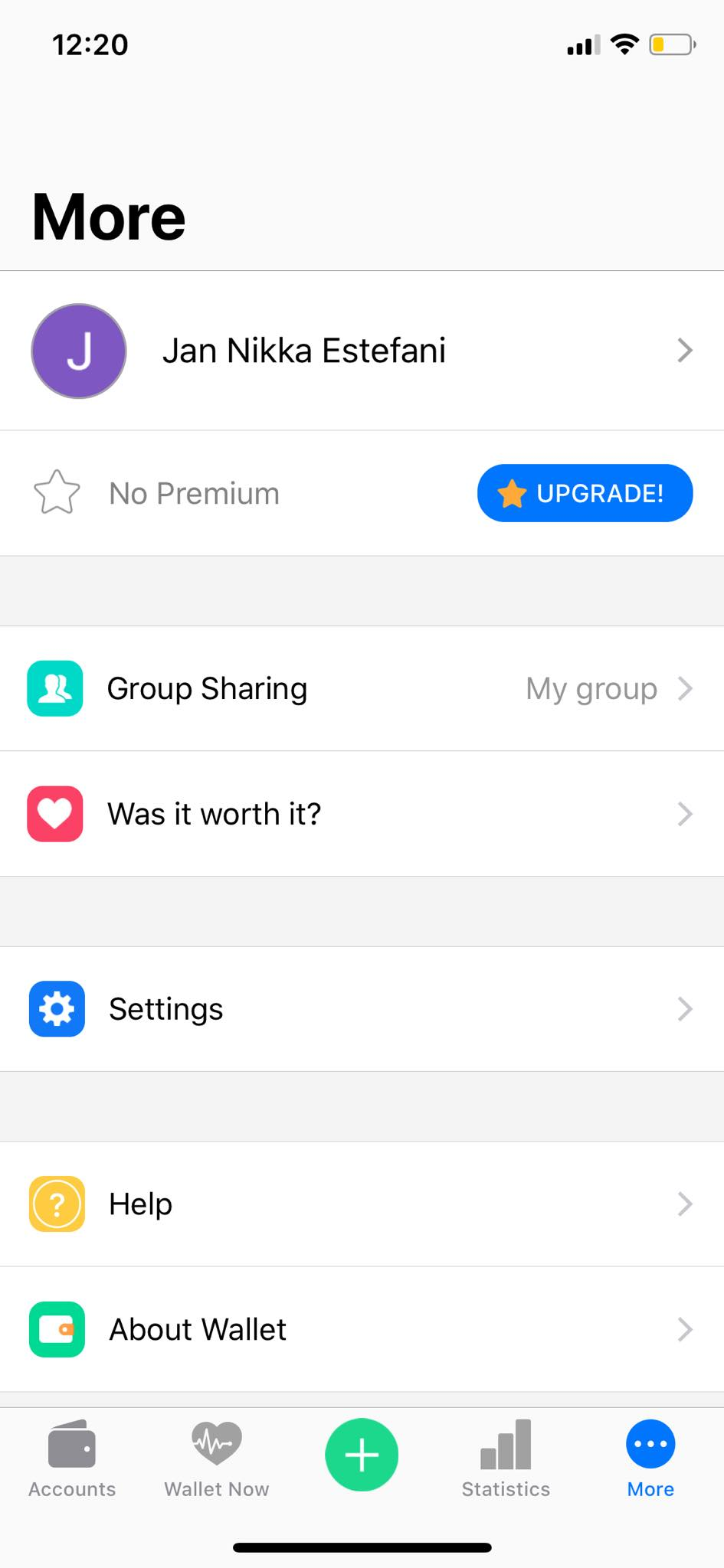 Menu on iOS by Wallet from UIGarage