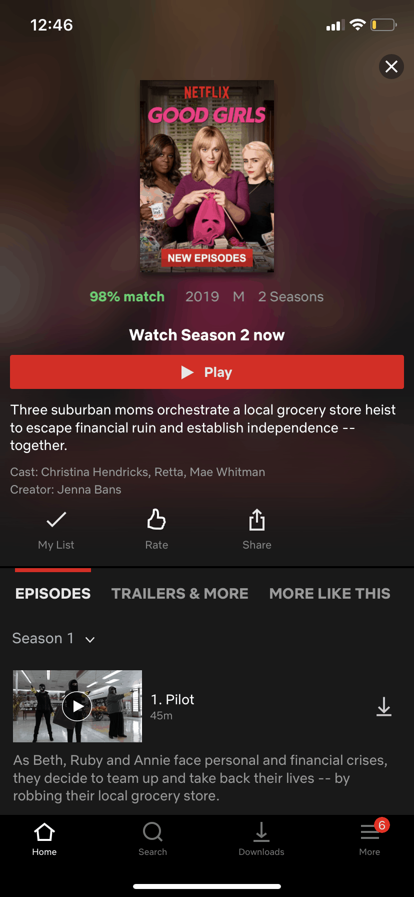 Movie Info on iOS by Netflix from UIGarage
