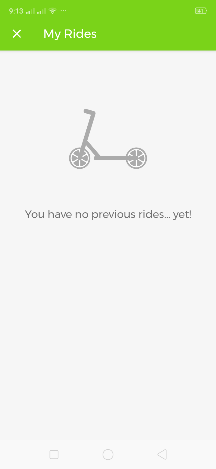 My Rides on Android by Lime from UIGarage