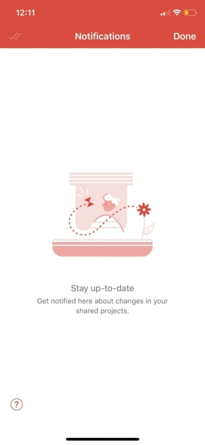 Notifications on iOS by Todoist from UIGarage