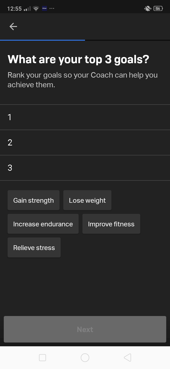 Onboarding on Android by Freeletics from UIGarage