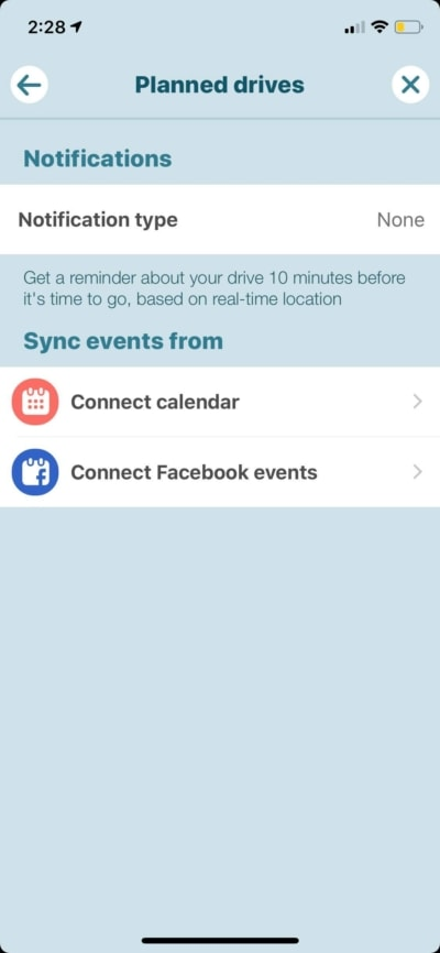 Planned Drives on iOS by Waze from UIGarage