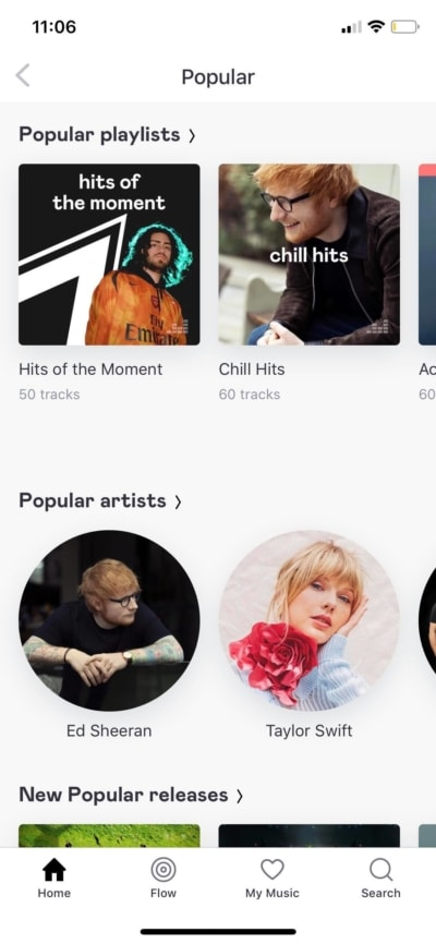 Popular on iOS by Deezer from UIGarage