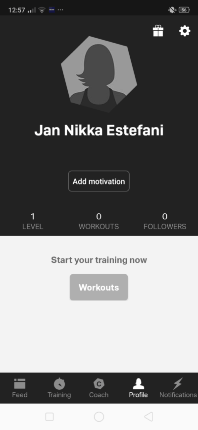 Profile on Android by Freeletics from UIGarage