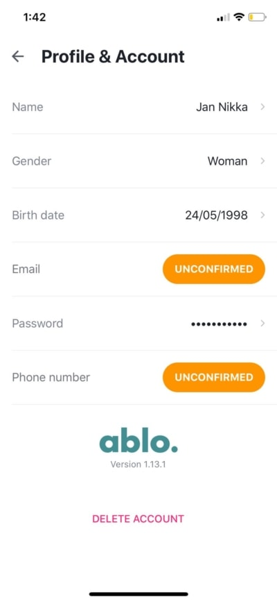 Profile and Account on iOS by Ablo from UIGarage