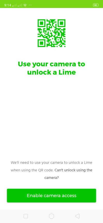 QR Code on Android by Lime from UIGarage
