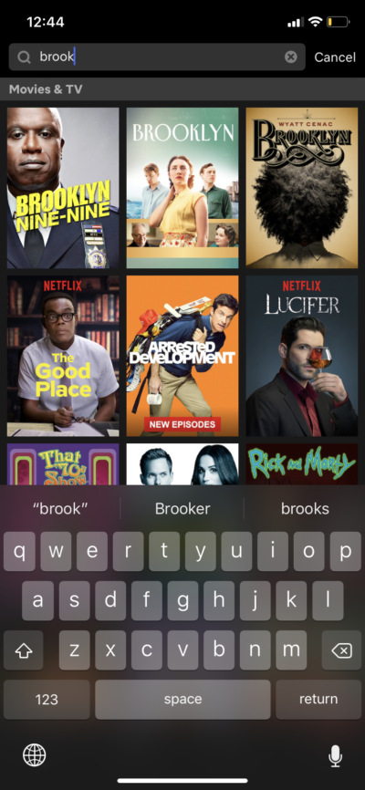 Search on iOS by Netflix from UIGarage