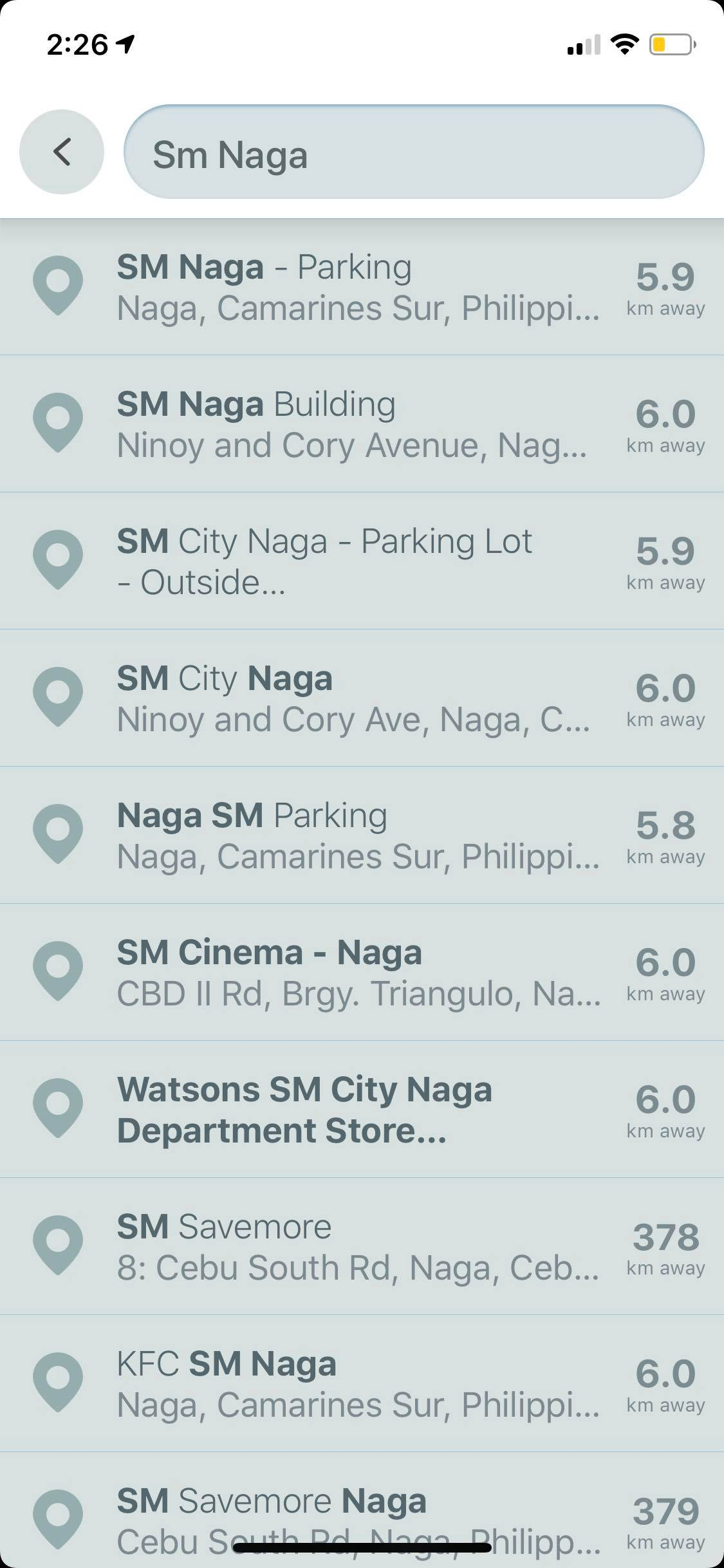 Search on iOS by Waze from UIGarage