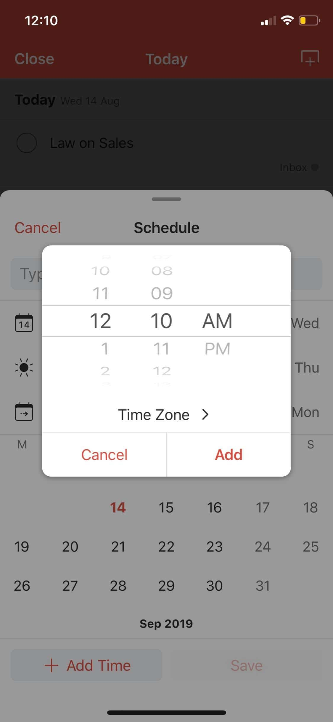 Time Picker on iOS by Todoist