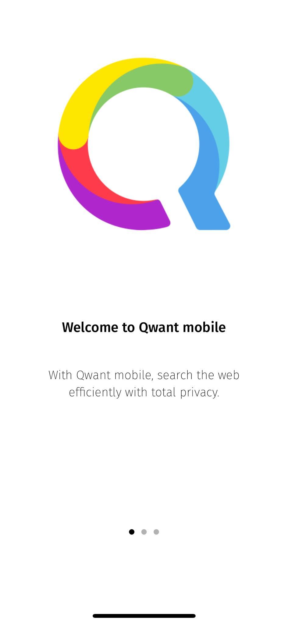 Walkthrough on iOS by Qwant