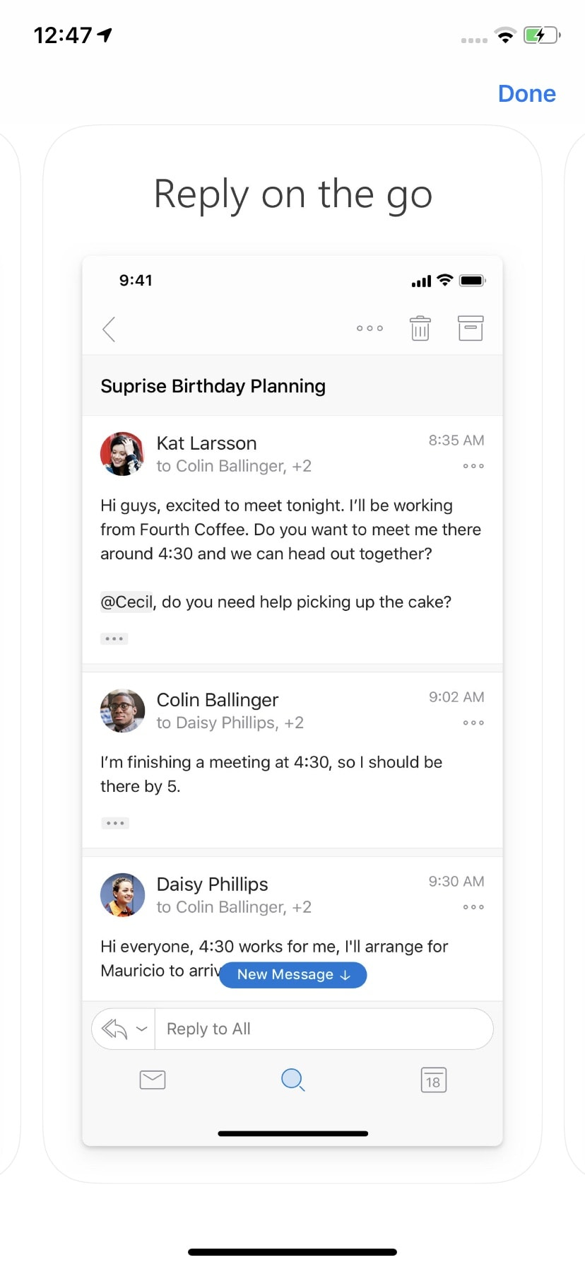 Walkthrough on iOS by Outlook from UIGarage