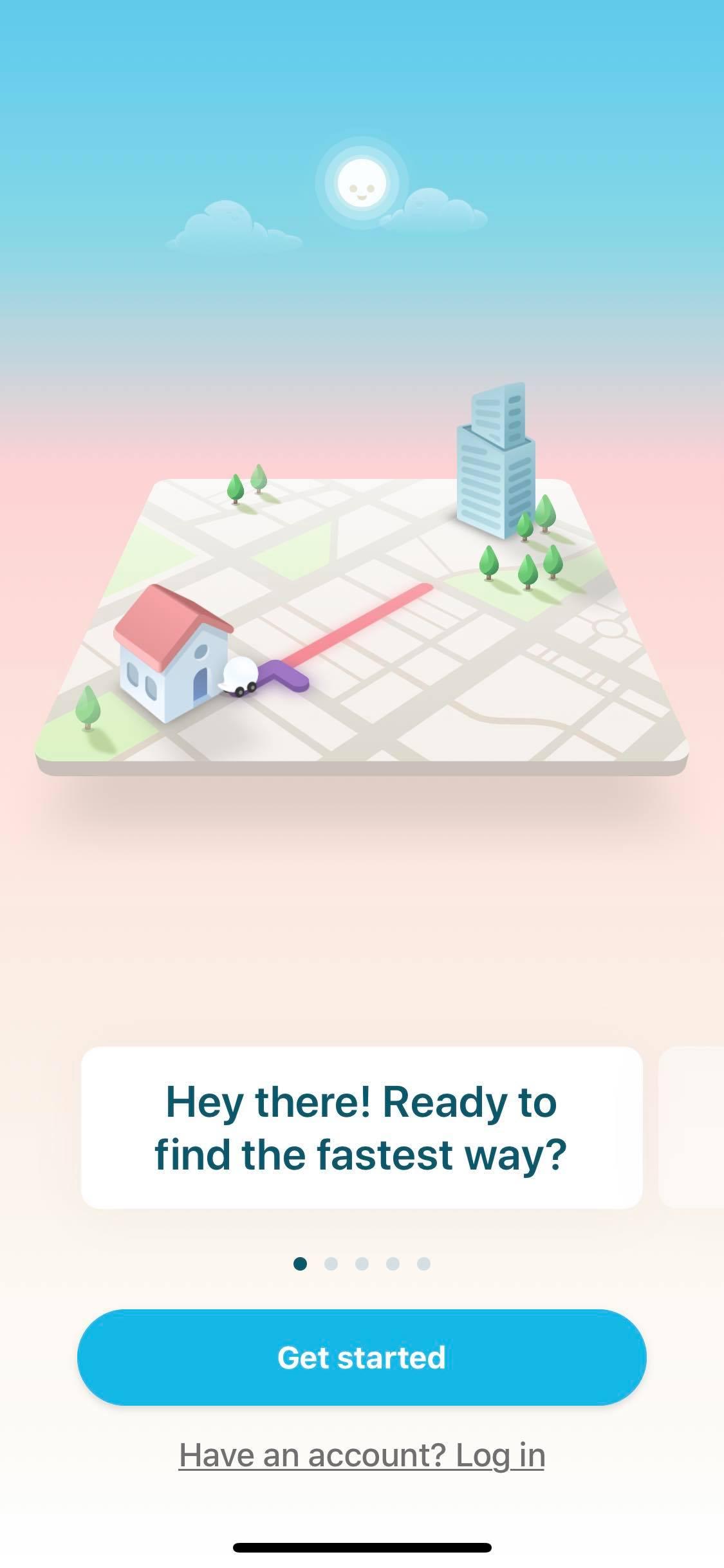 Walkthrough on iOS by Waze