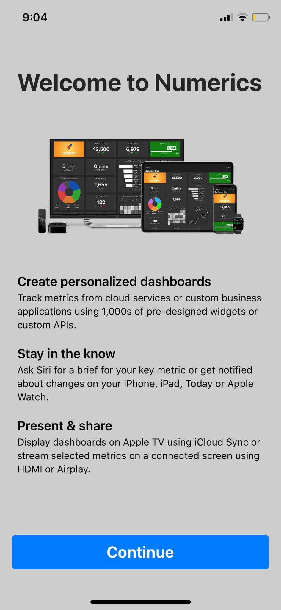 Welcome on iOS by Numerics