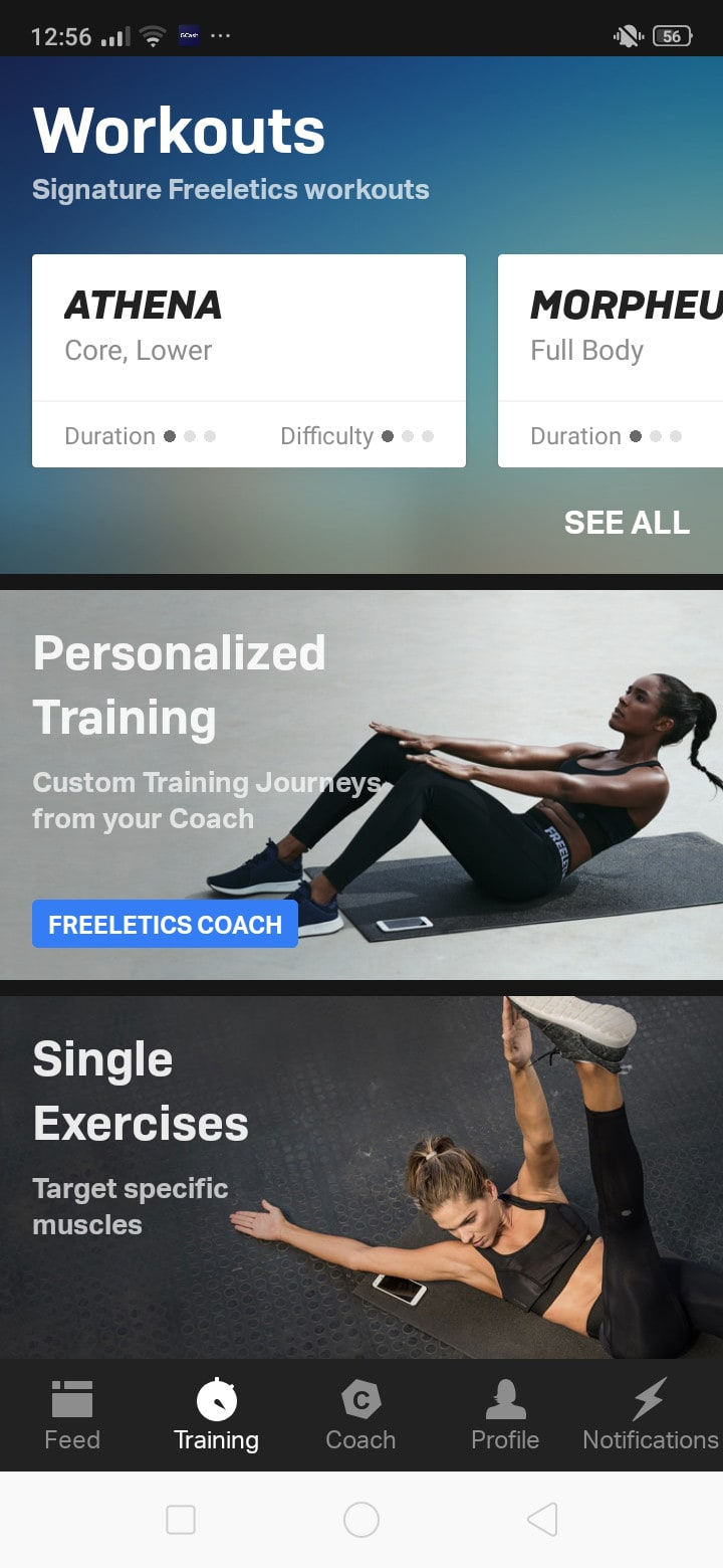 Workouts on Android by Freeletics from UIGarage