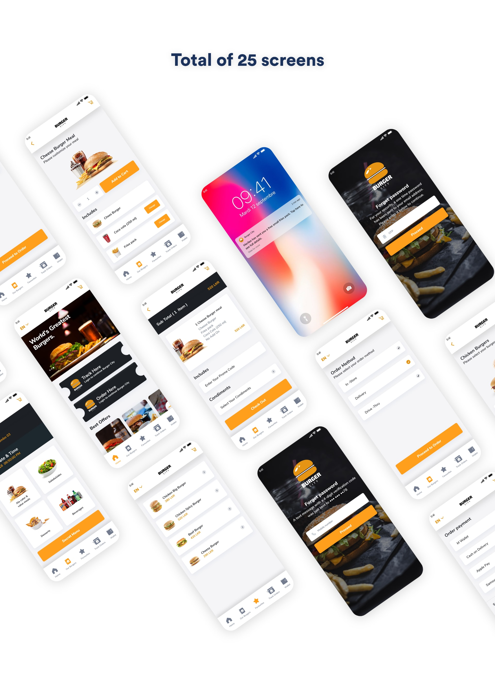 Burger City - Free Adobe XD UI Kit from UIGarage
