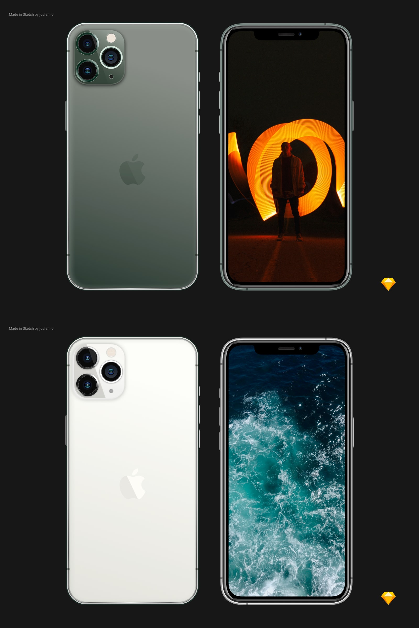 Free iPhone 11 Pro Mockup for Sketch from UIGarage