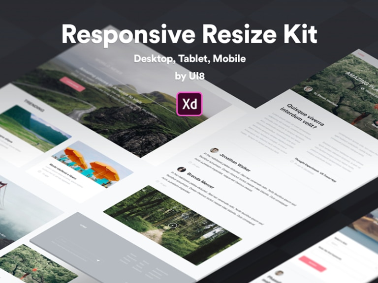 Responsive Resize UI Kit for Adobe XD from UIGarage