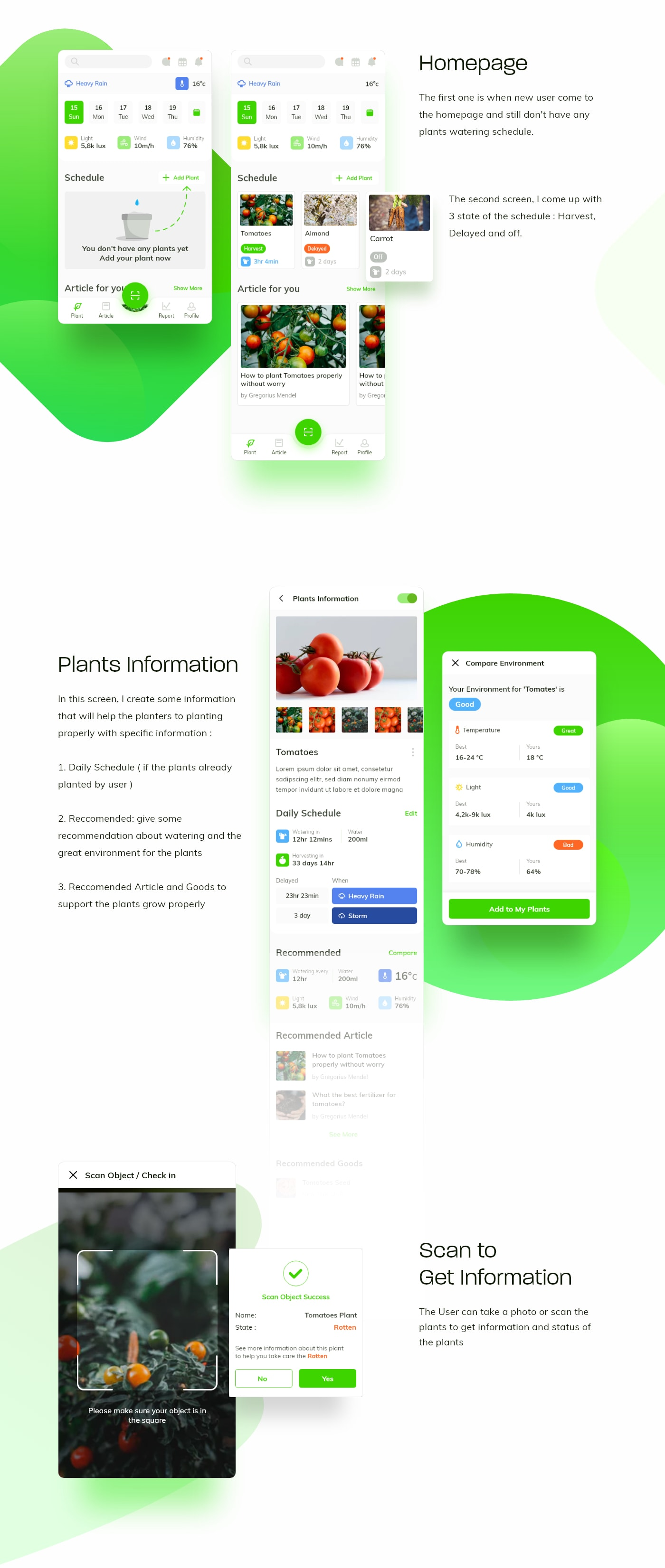 Waplant Plants - Free UI Kit for Adobe XD from UIGarage