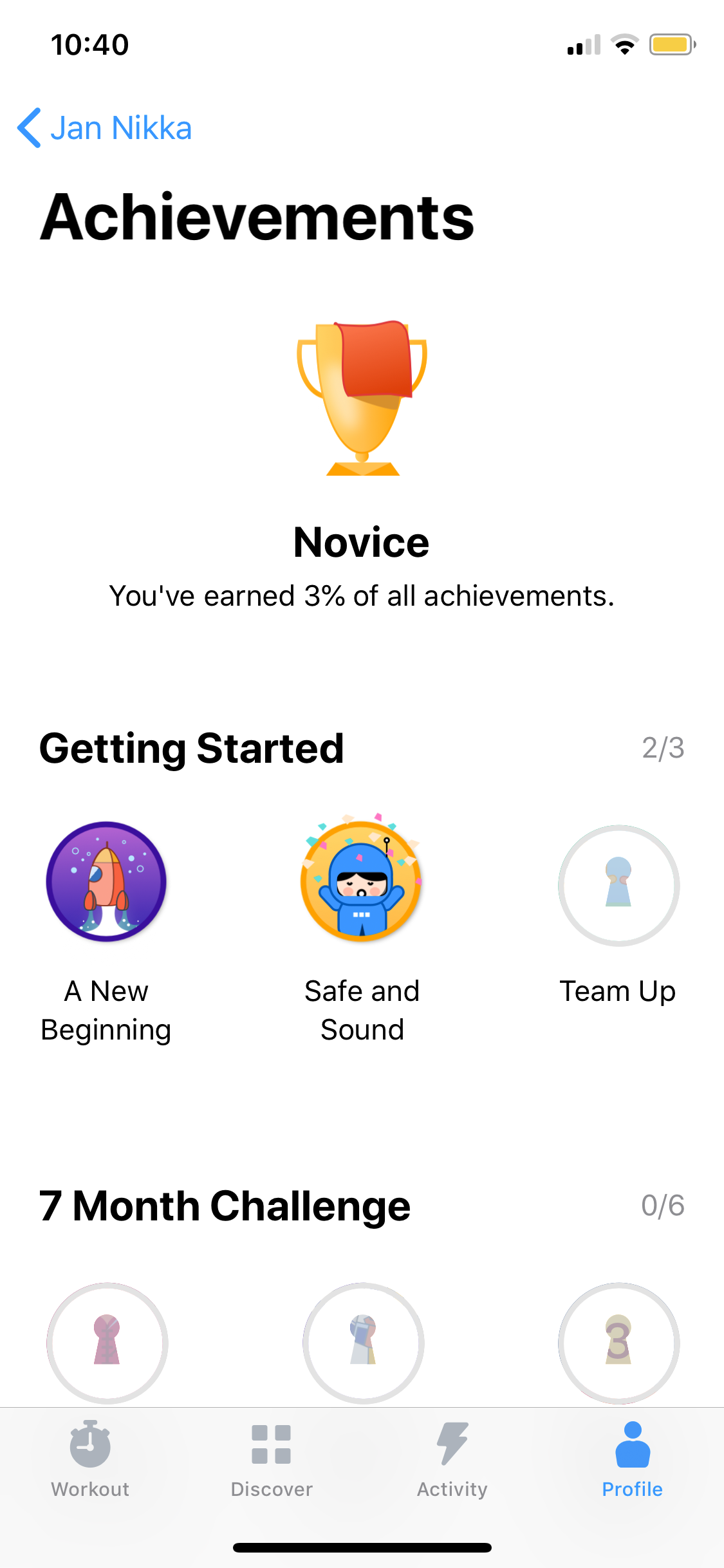 Achievements on iOS by Seven from UIGarage