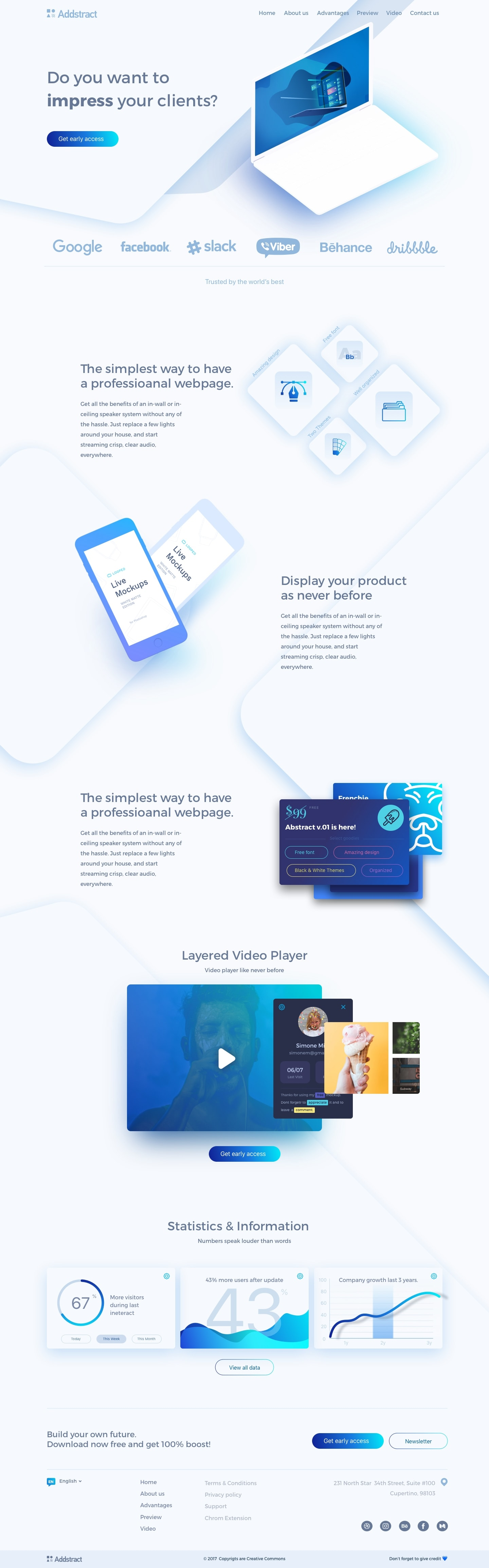 Addstract Free UI Kit from UIGarage