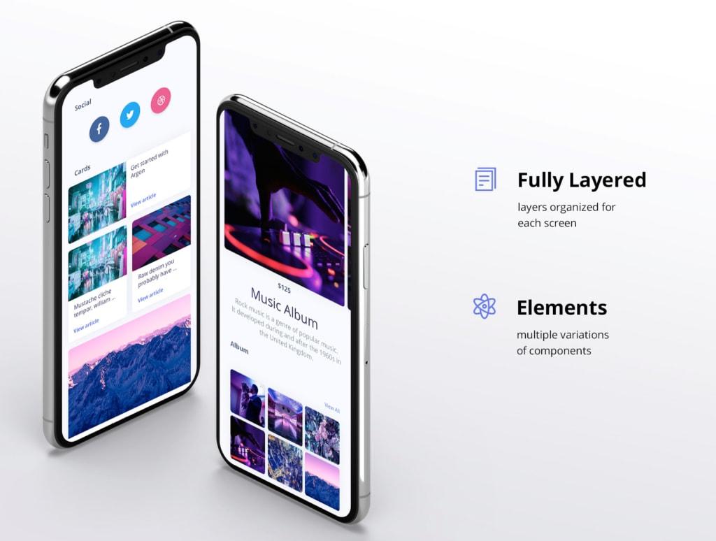 Argon Mobile UI Kit from UIGarage