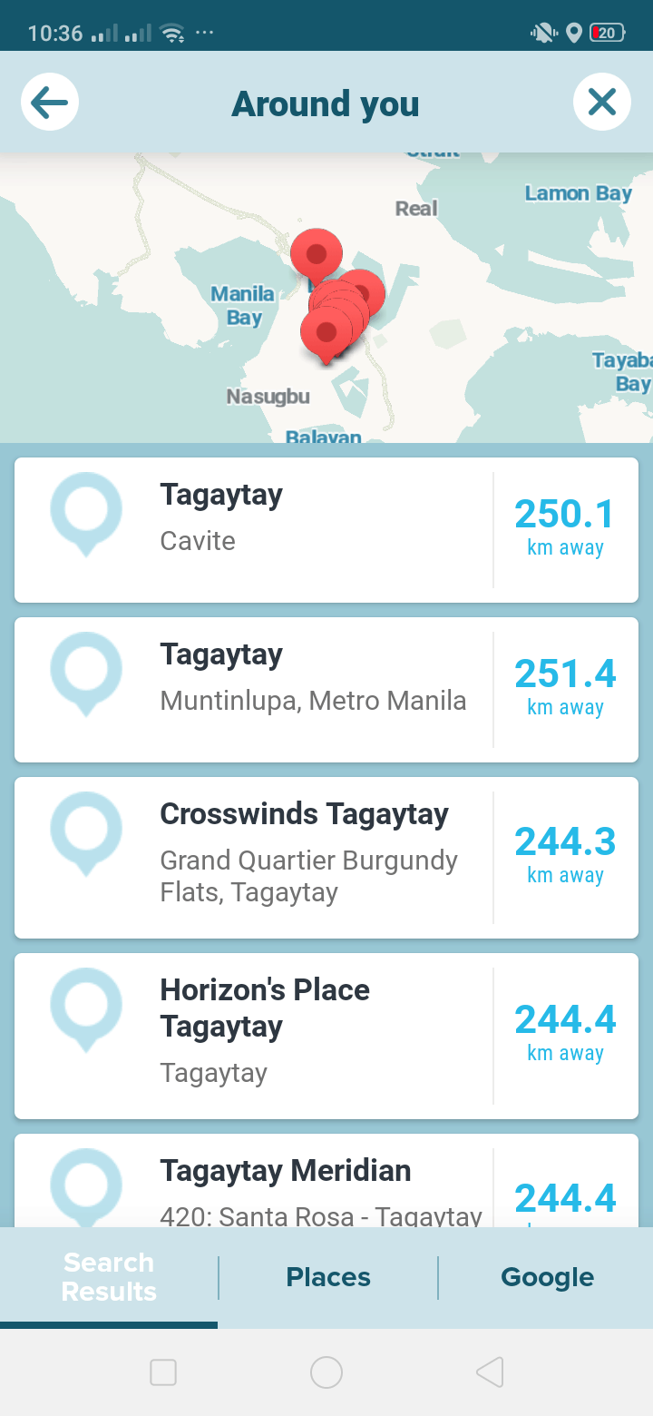 Around You on Android by Waze from UIGarage