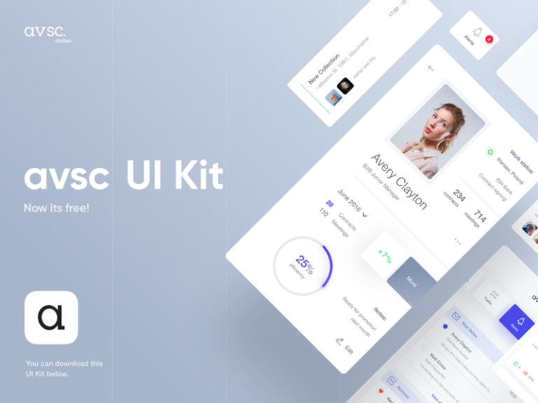 Avsc Free UI Kit from UIGarage