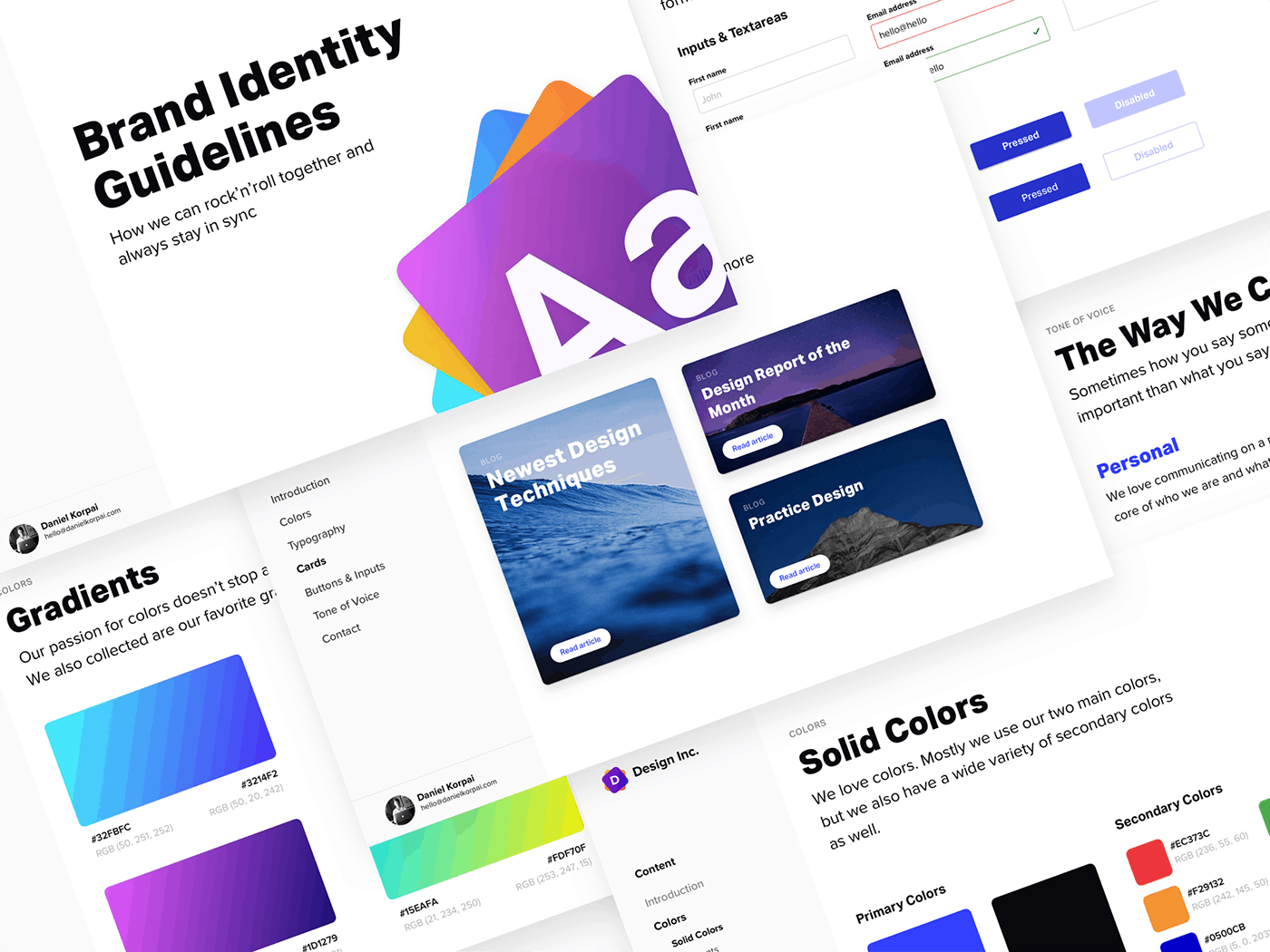 Brand Identity Guidelines 2.0 from UIGarage