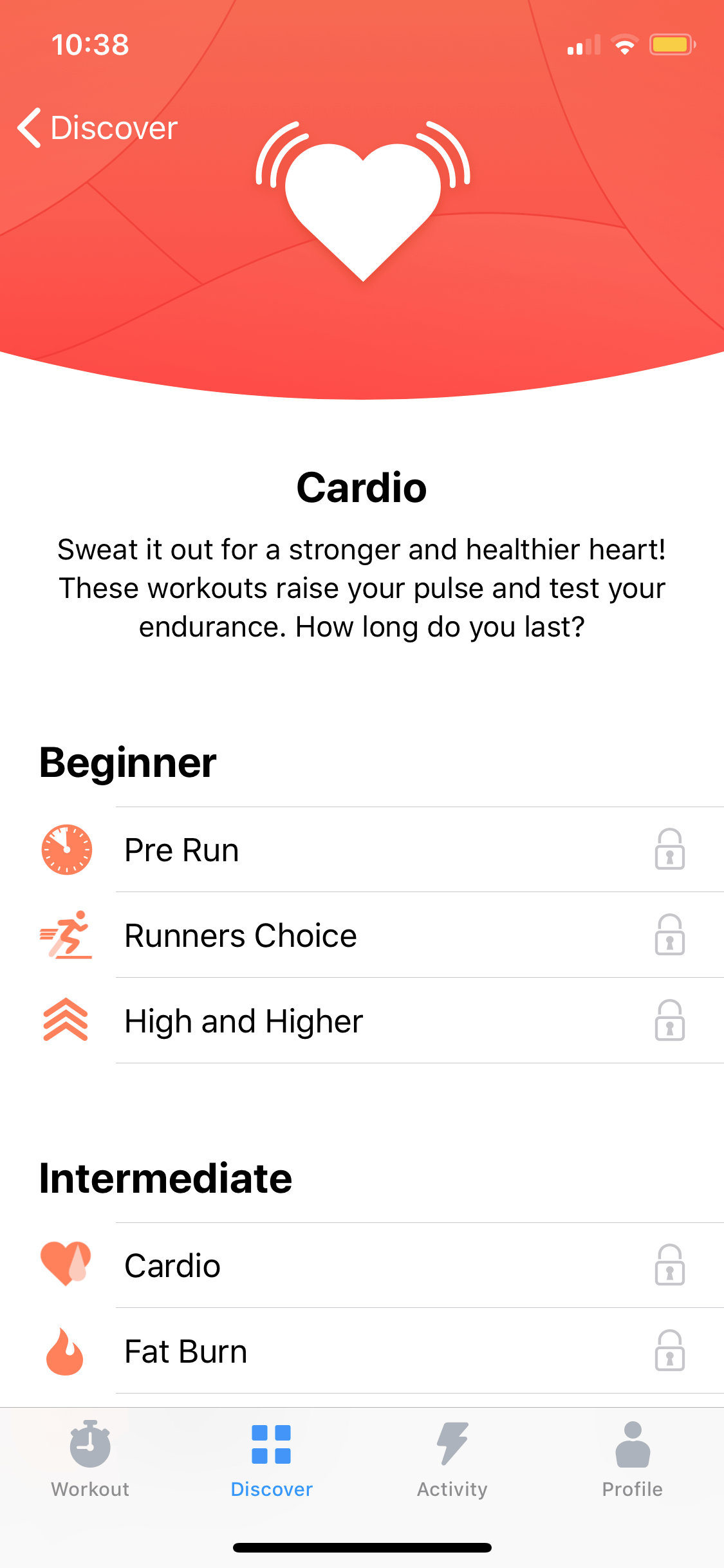 Cardio on iOS by Seven from UIGarage