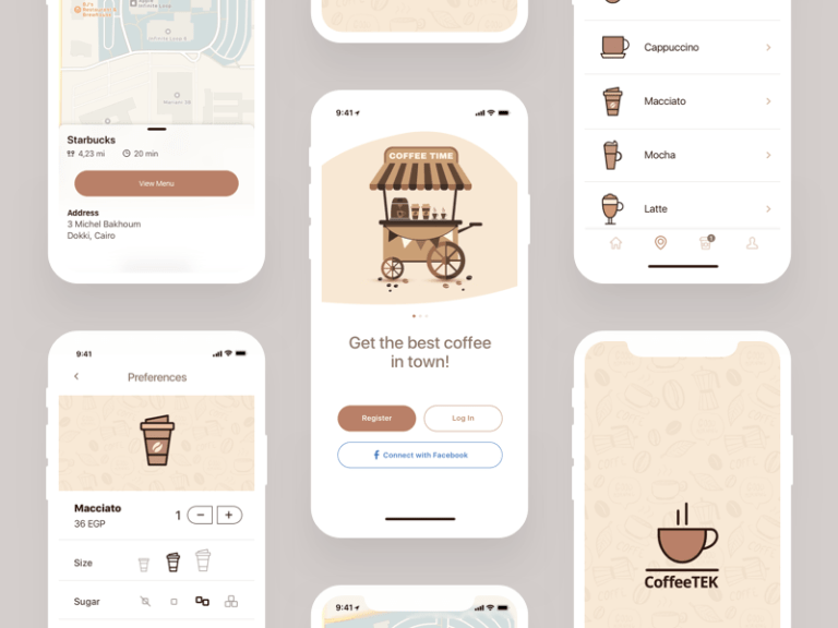 Coffee App Freebie from UIGarage