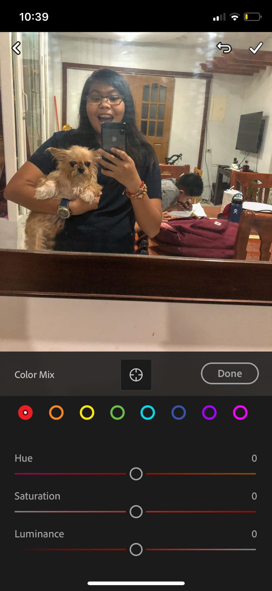 Color Picker on iOS by Adobe Lightroom