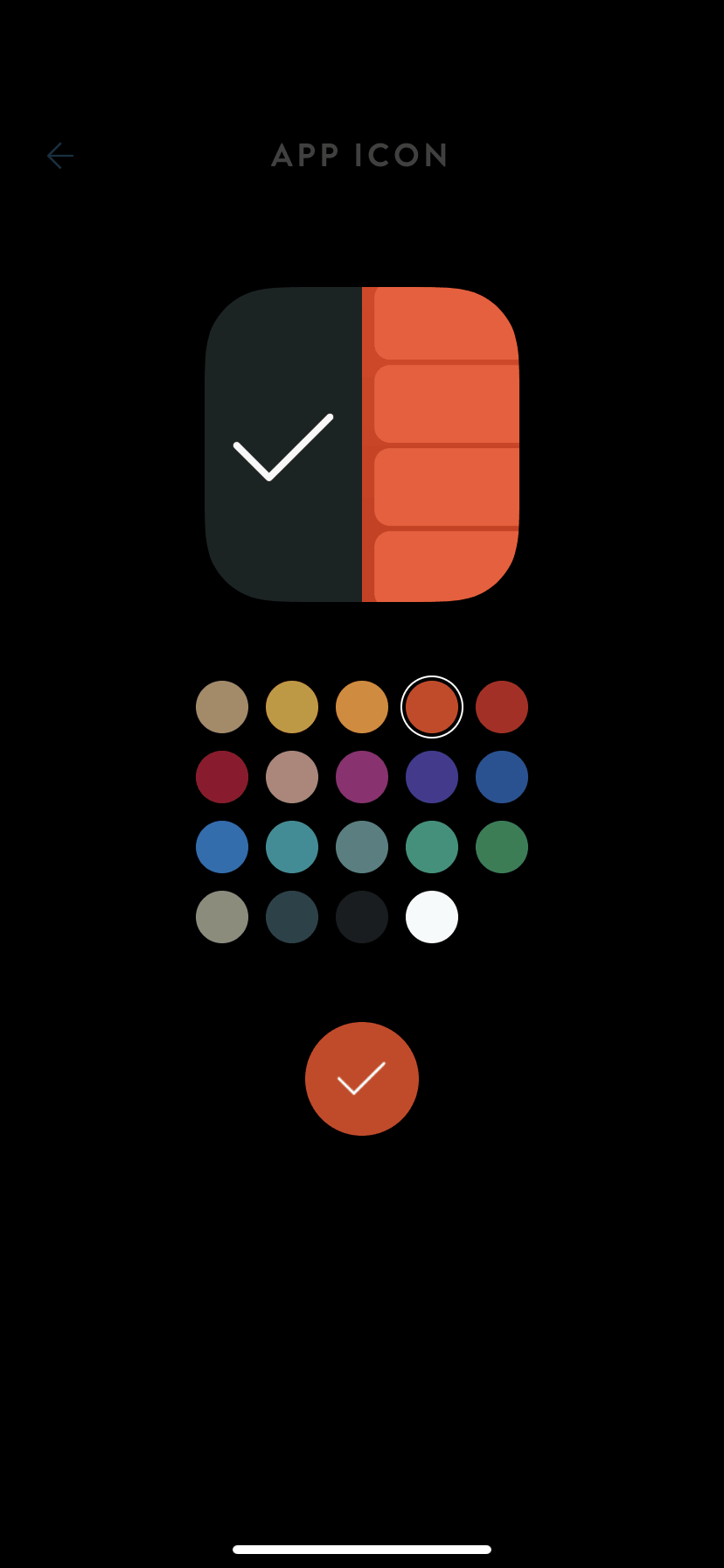 App Icon Color Picker on iOS by Timepage