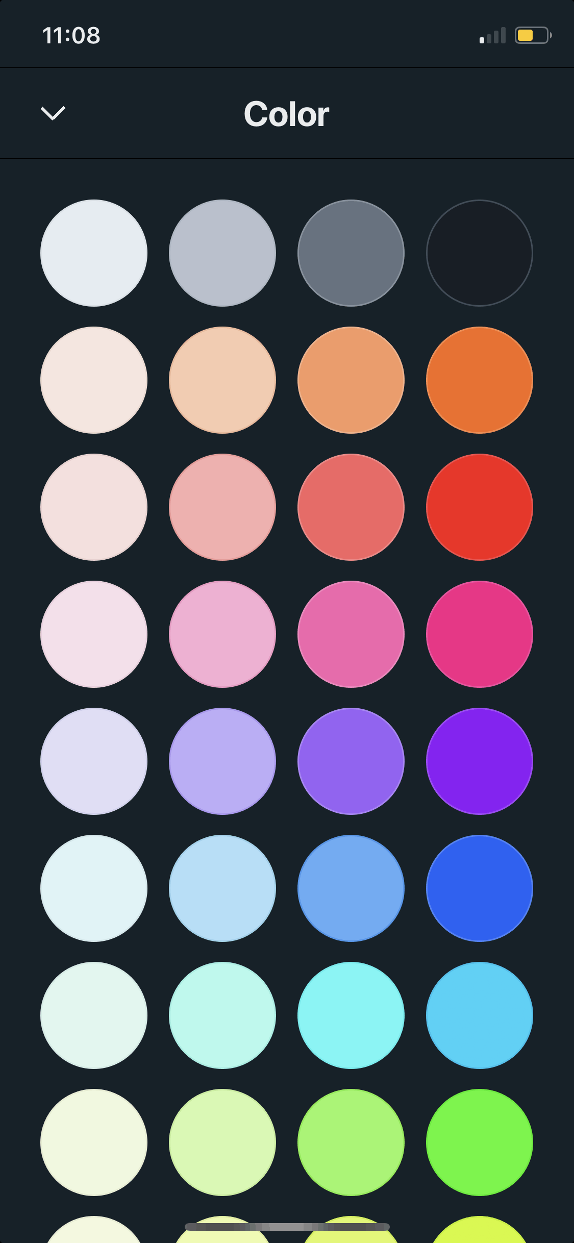 Color Picker on iOS by Vantage