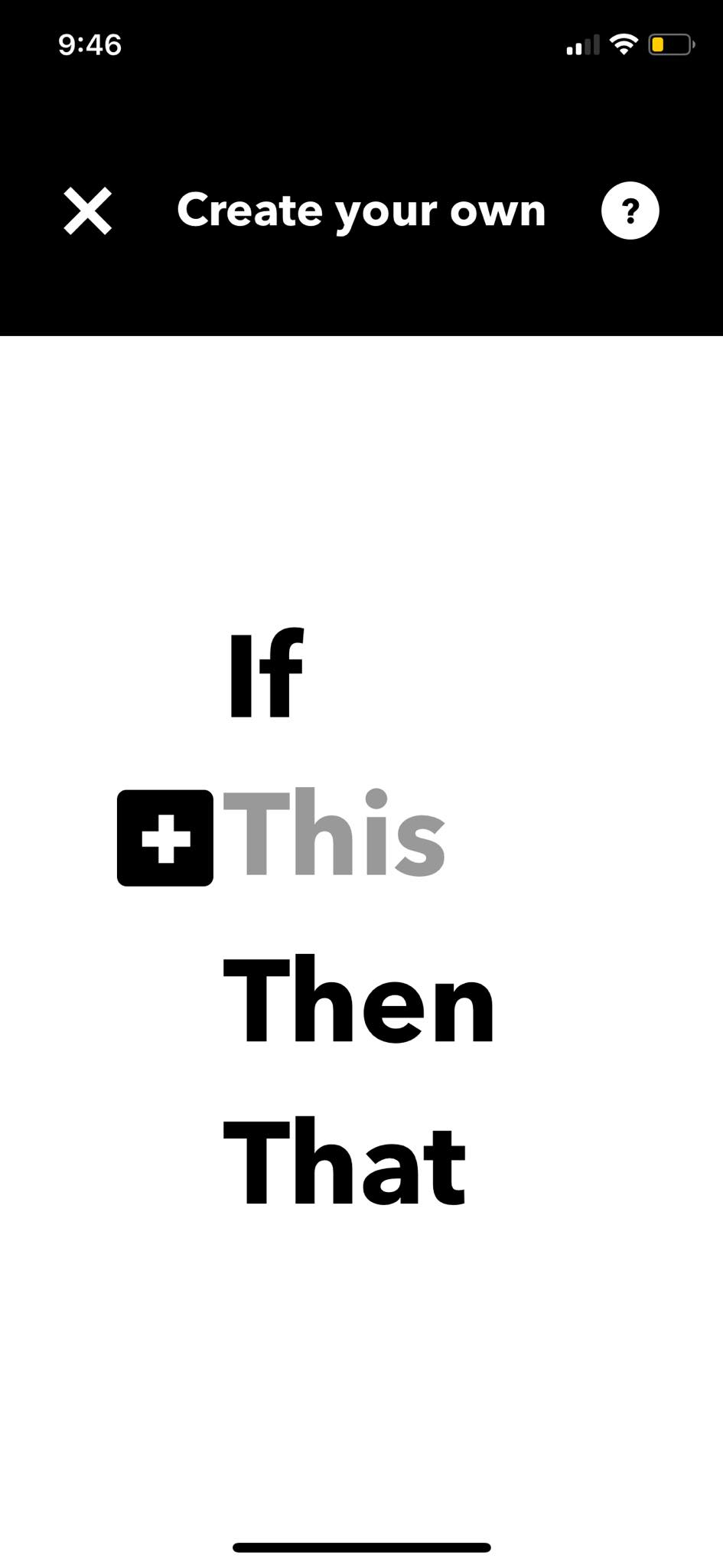 Create on iOS by IFTTT from UIGarage