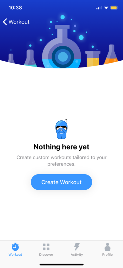 Custom Workout on iOS by Seven from UIGarage