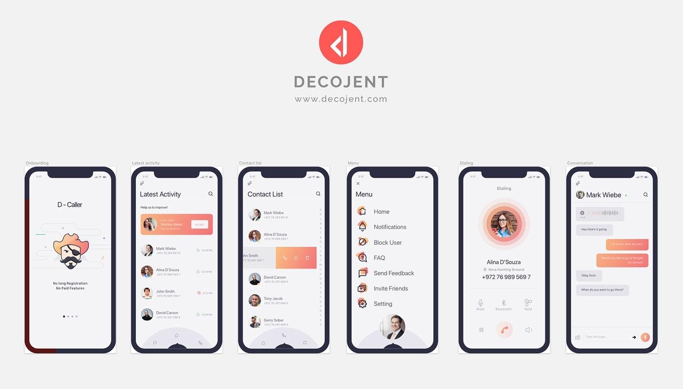 D-Caller Mobile UI Kit from UIGarage