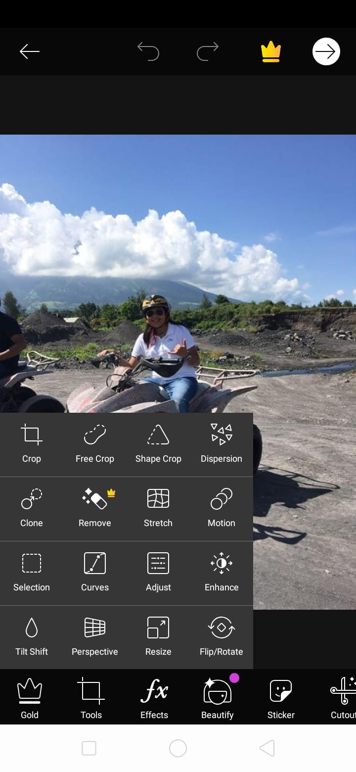 Edit Menu on Android by PicsArt